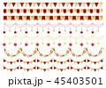 ガーランド クリスマス パーティフラッグのイラスト 45403501