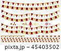 ガーランド クリスマス パーティフラッグのイラスト 45403502