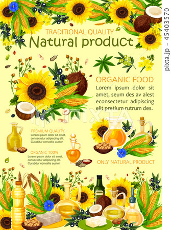 Sunflower, olive and nut oils 45403570