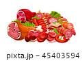 お肉 ミート 精肉のイラスト 45403594