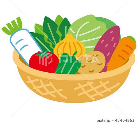 かごに入った野菜 45404963