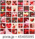 ハート バレンタイン セットのイラスト 45405095