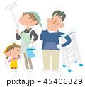 家族 大掃除 掃除のイラスト 45406329