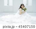 女性 結婚 ブライダルイメージ 45407150