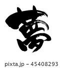 夢 筆文字 書道のイラスト 45408293