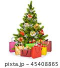 クリスマス クリスマスツリー ギフトのイラスト 45408865