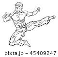 空手 空手道 キックのイラスト 45409247