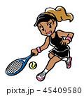 テニス スポーツ 女性のイラスト 45409580