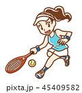 テニス スポーツ 女性のイラスト 45409582