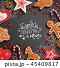 バックグラウンド 背景 クリスマスのイラスト 45409817
