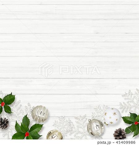 背景-白壁-クリスマス-飾り 45409986