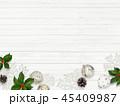 クリスマス 背景 壁のイラスト 45409987
