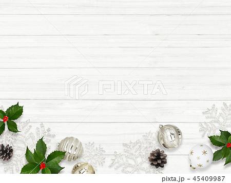 背景-白壁-クリスマス-飾り 45409987