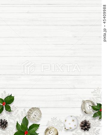 背景-白壁-クリスマス-飾り 45409988