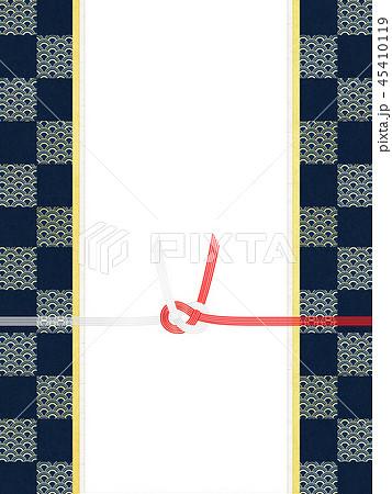 和紙-和-和風-和柄-市松模様-紅白-のし紙-水引 45410119