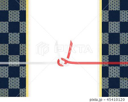 和紙-和-和風-和柄-市松模様-紅白-のし紙-水引 45410120