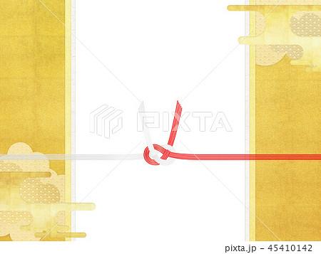 和-和柄-和風-背景-金箔-雲-霞-のし紙-水引 45410142