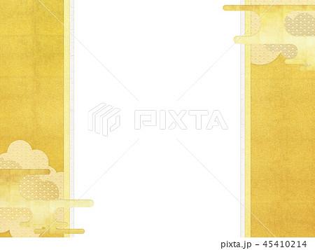 和-和柄-和風-背景-金箔-雲-霞-のし紙 45410214