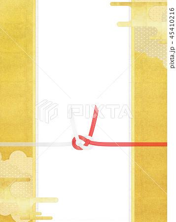 和-和柄-和風-背景-金箔-雲-霞-のし紙-水引 45410216