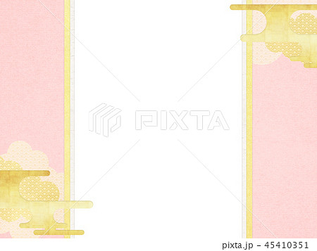 和-和風-和柄-背景-和紙-春-桜-ピンク-のし 45410351