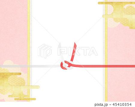 和-和風-和柄-背景-和紙-春-桜-ピンク-水引-のし 45410354