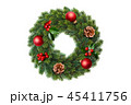 Christmas wreath decoration 45411756