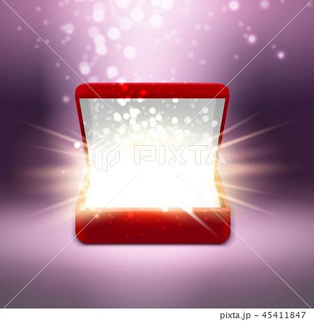 Realistic Jewelry Box With Shine 45411847