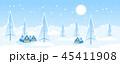 冬 景色 風景のイラスト 45411908