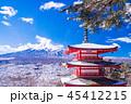富士山 忠霊塔 冬の写真 45412215