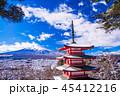 富士山 忠霊塔 冬の写真 45412216