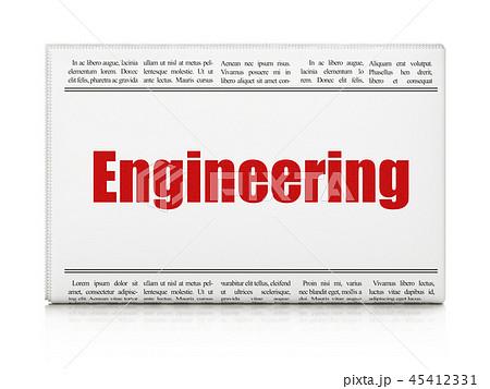 Building construction concept: word newspaper headline Engineering 45412331
