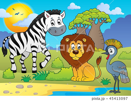 African nature theme image 5 45413097