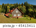 Traditional wooden cottage in Czech republic 45413411