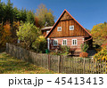 Traditional wooden cottage in Czech republic 45413413