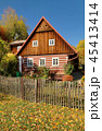 Traditional wooden cottage in Czech republic 45413414
