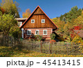 Traditional wooden cottage in Czech republic 45413415