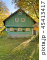 Traditional wooden cottage in Czech republic 45413417