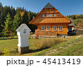 Traditional wooden cottage in Czech republic 45413419