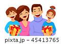 クリスマス ファミリー 家庭のイラスト 45413765