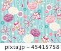 和柄 和 花柄のイラスト 45415758