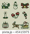 クリスマス アイコン セットのイラスト 45415975