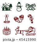 クリスマス アイコン セットのイラスト 45415990