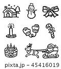 クリスマス アイコン セットのイラスト 45416019