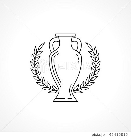 Winner cup line isolated on white background 45416816