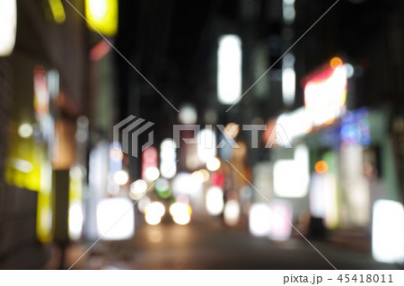 夜の街イメージ ぼかし加工 45418011