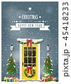 クリスマス あいさつ グリーティングのイラスト 45418233