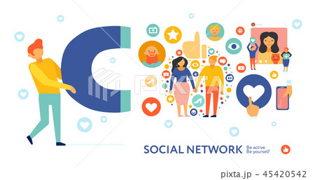 Social Network Symbols Composition  45420542