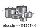 家庭用品 用具 鍋のイラスト 45420544