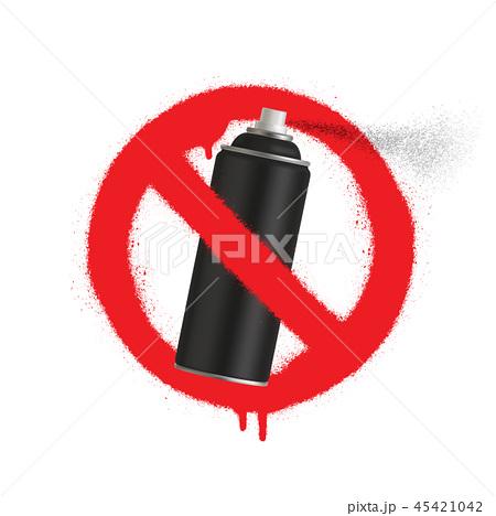 no graffiti spray can sign icon paint symbol のイラスト素材