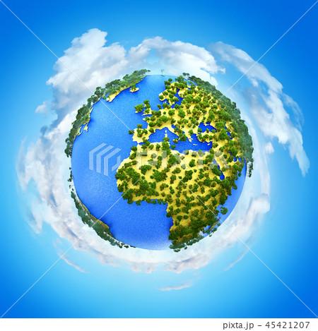 Miniature Earth planet globe 45421207